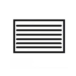 grille d 39 a ration rectangulaire avec toile moustiquaire. Black Bedroom Furniture Sets. Home Design Ideas
