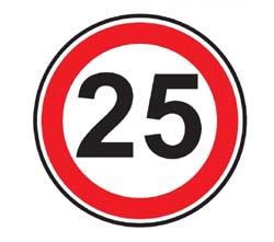 Panneau pvc rond 25km h achat en ligne ou dans notre magasin for Panneau inox autocollant