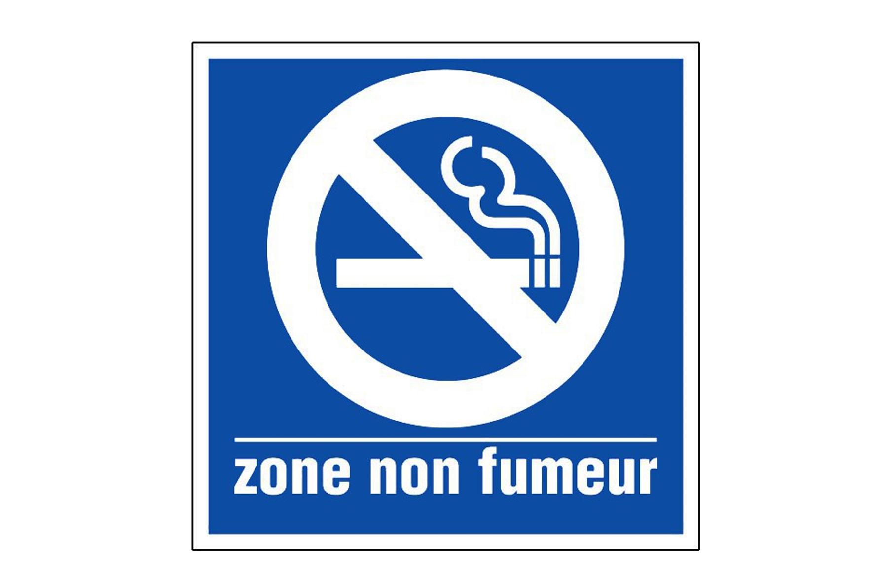 Panneau pvc carre zone non fumeur achat en ligne ou dans for Panneau inox autocollant