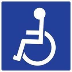 Panneau pvc carre handicap logo achat en ligne ou dans for Panneau inox autocollant