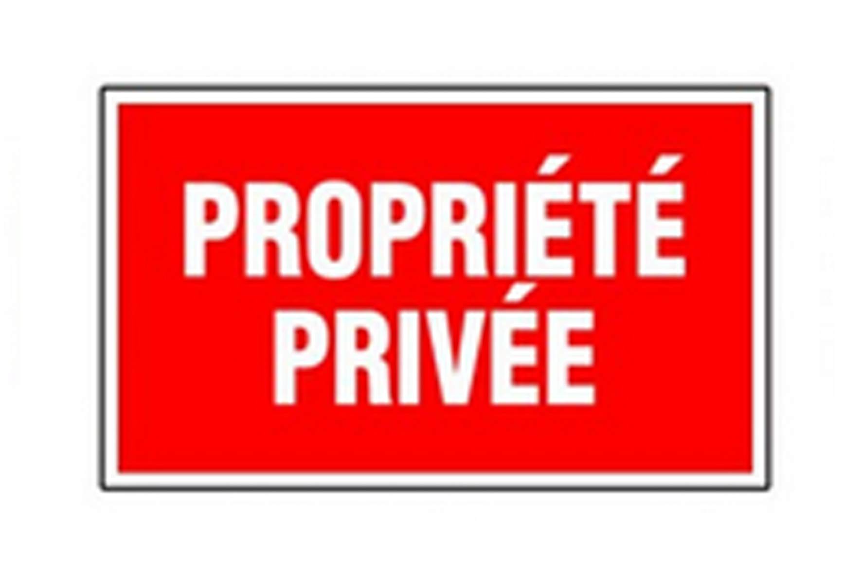 Panneau pvc rectangle propri t priv e achat en ligne ou for Panneau inox autocollant
