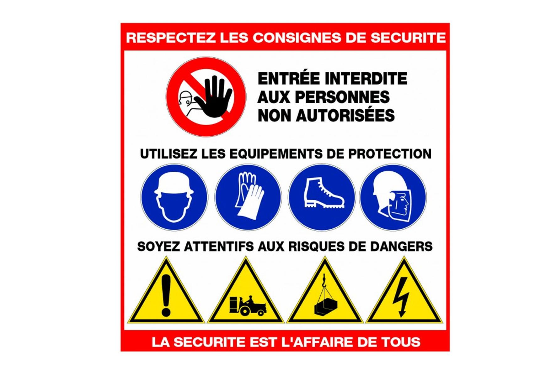 Panneau Chantier Respectez Securite Pt Achat En Ligne