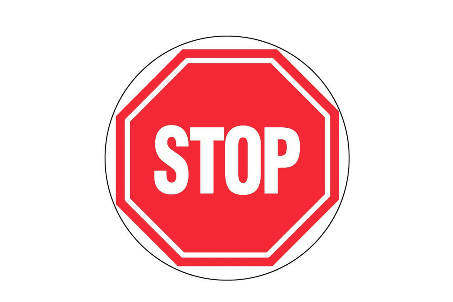 Panneau pvc rond stop achat en ligne ou dans notre magasin for Panneau inox autocollant