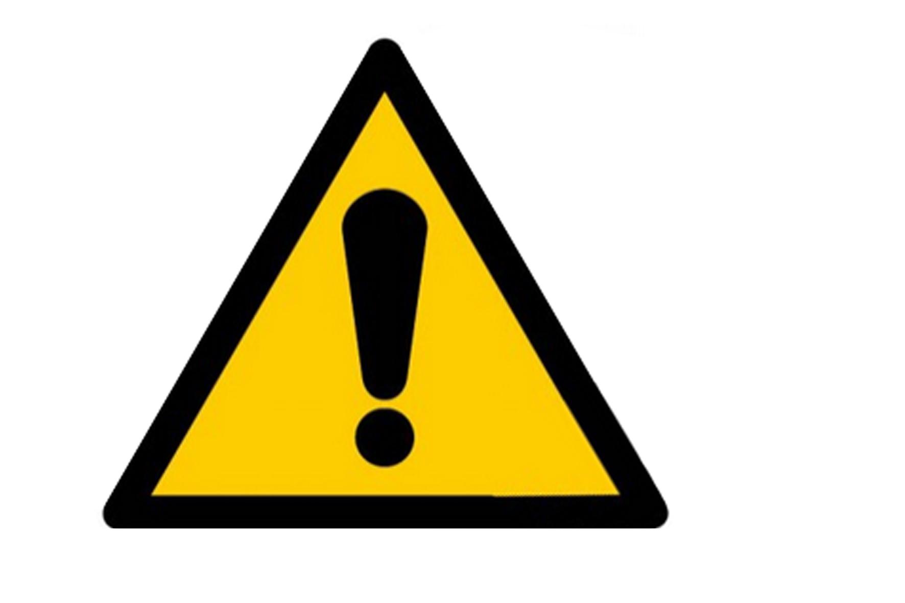 Panneau pvc triangle danger general.