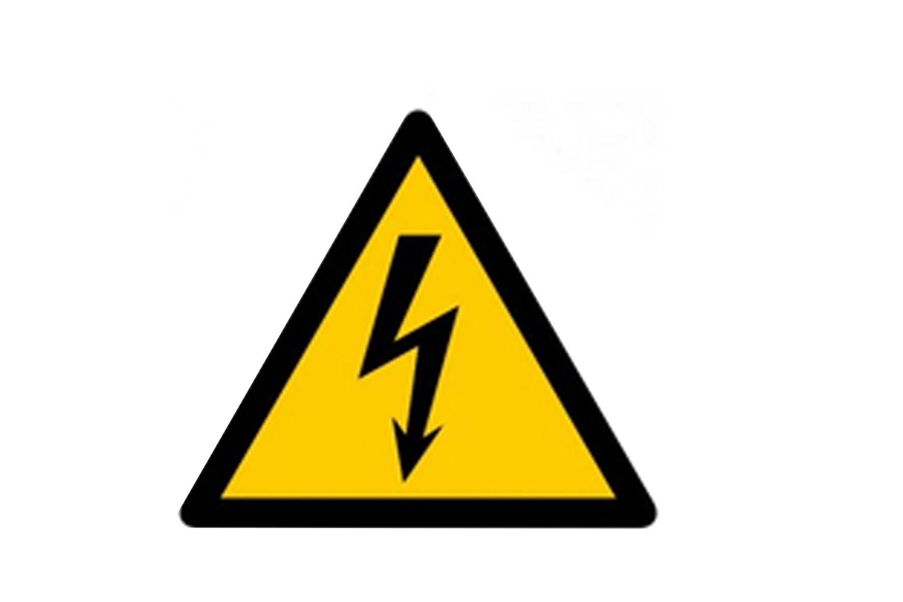 Panneau pvc triangle danger electrique achat en ligne ou for Panneau inox autocollant