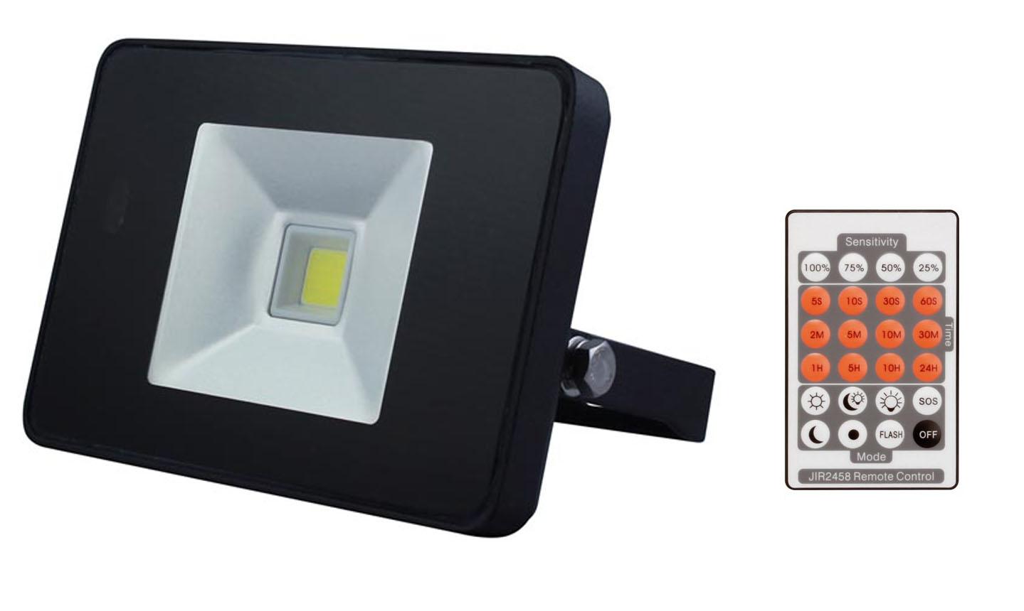 Projecteur led ultraplat avec detecteur et telecommande for Telecommande eclairage exterieur