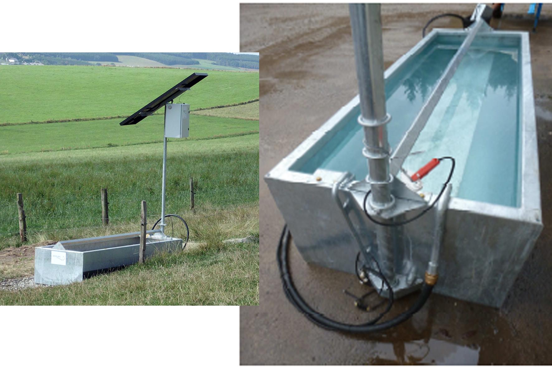 Bac 39 39 eau sur pied avec pompe solaire achat en ligne ou for Pompe bac a poisson