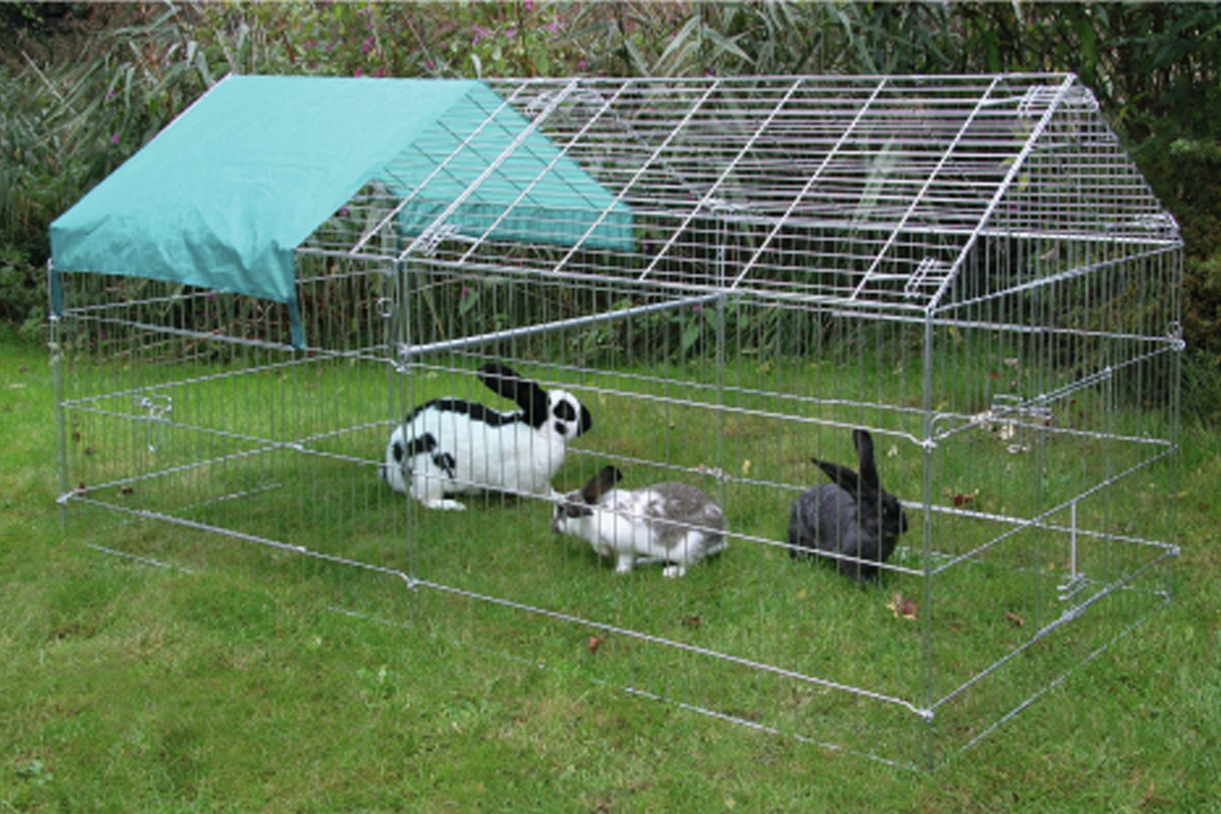 Enclos ext rieur rectangulaire achat en ligne ou dans for Abri lapin exterieur