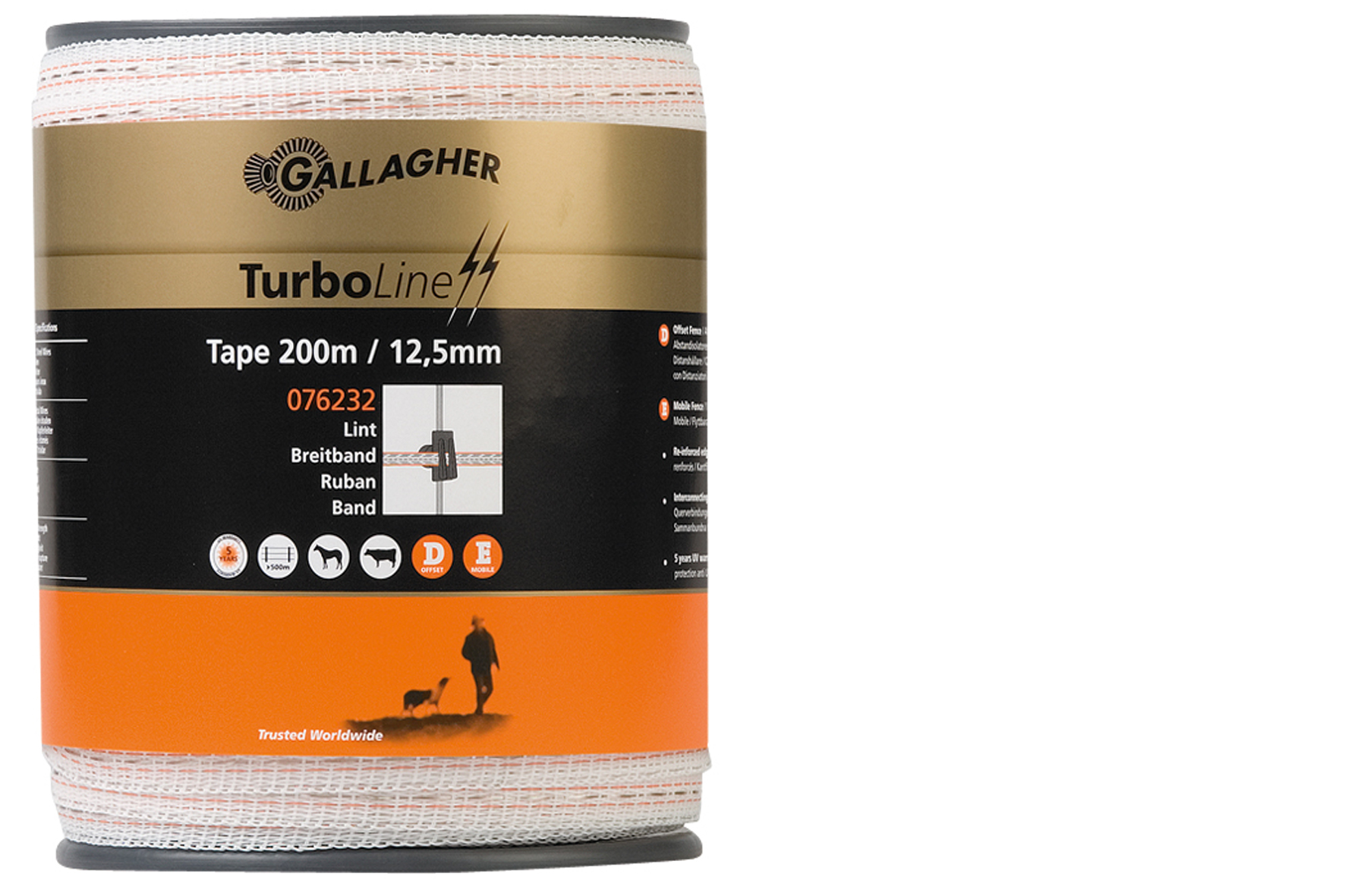RUBAN 12.5MM TURBOLINE GALLAGHER