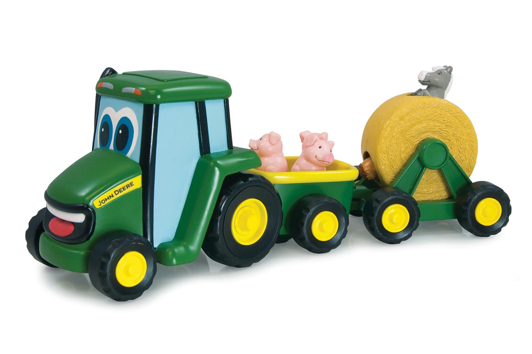 tomy john deere 35089 johnny le tracteur et son attelage musical - Tracteur John Deere Enfant