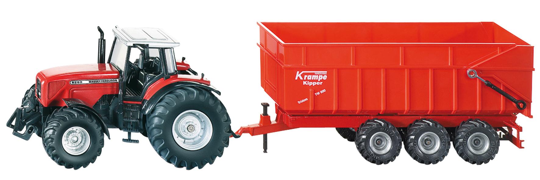 Massey ferguson tracteur avec remorque 3 essieux 1844 - Jeu de tracteur agricole gratuit ...
