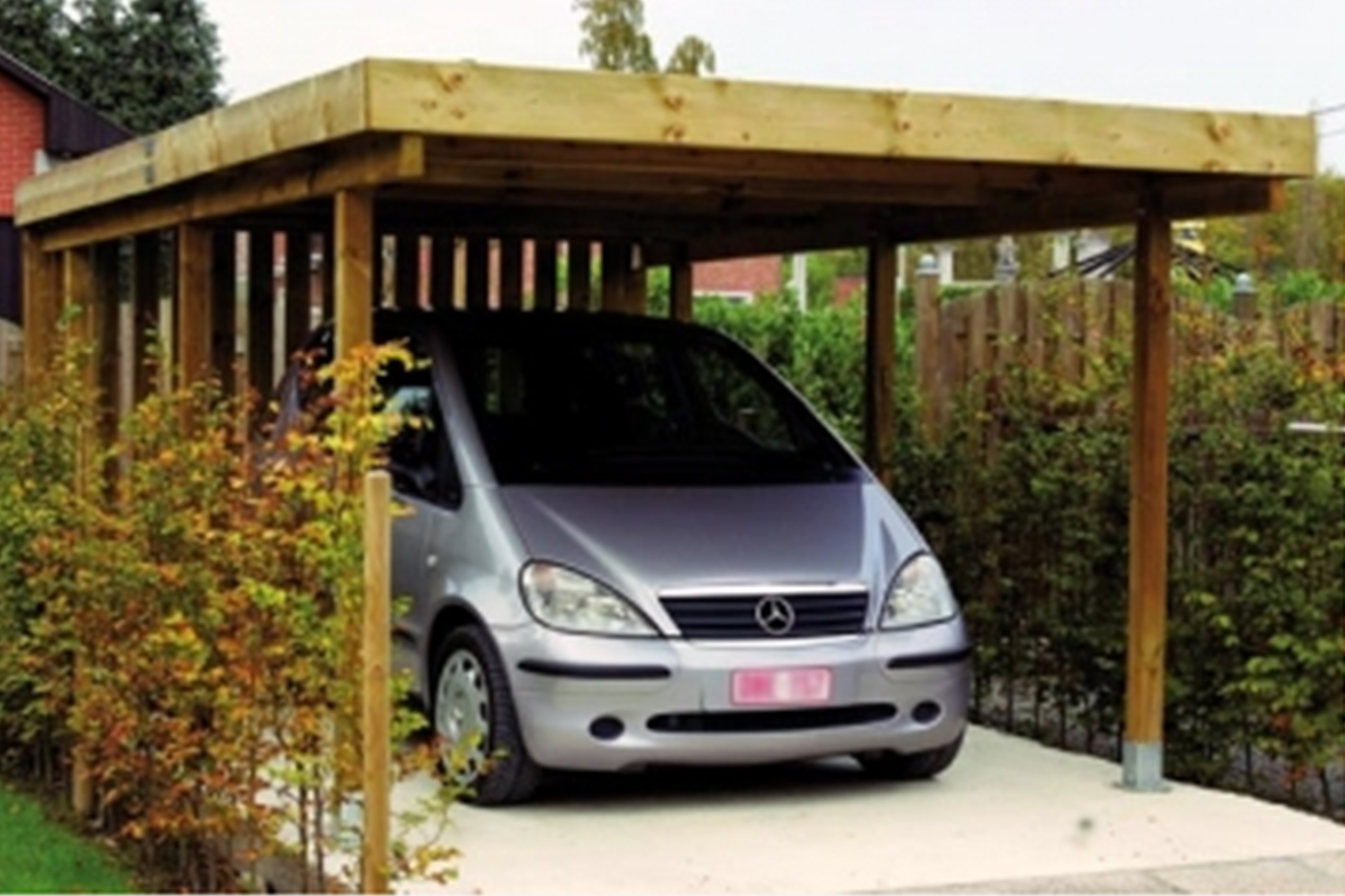 prix carport bois voiture. Black Bedroom Furniture Sets. Home Design Ideas