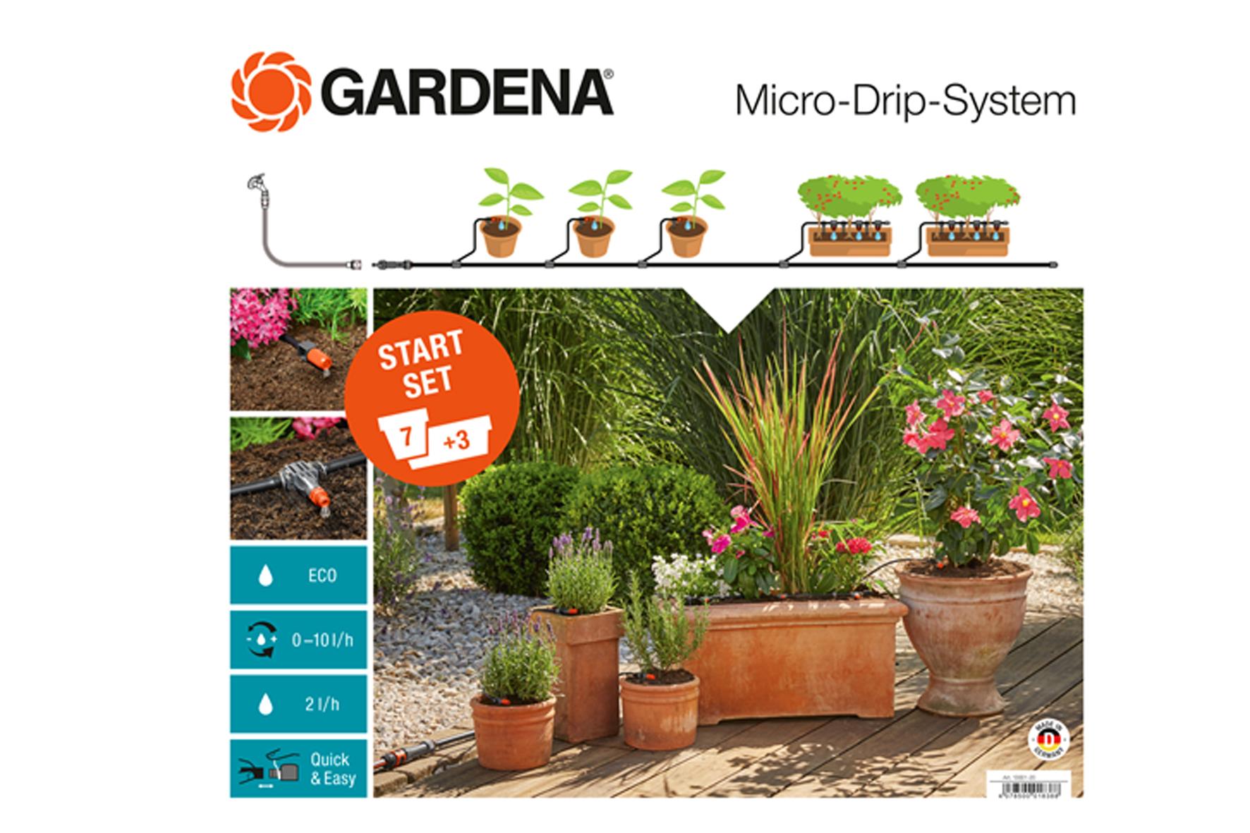 tuyau microdrip gardena kit plantes pot achat en ligne