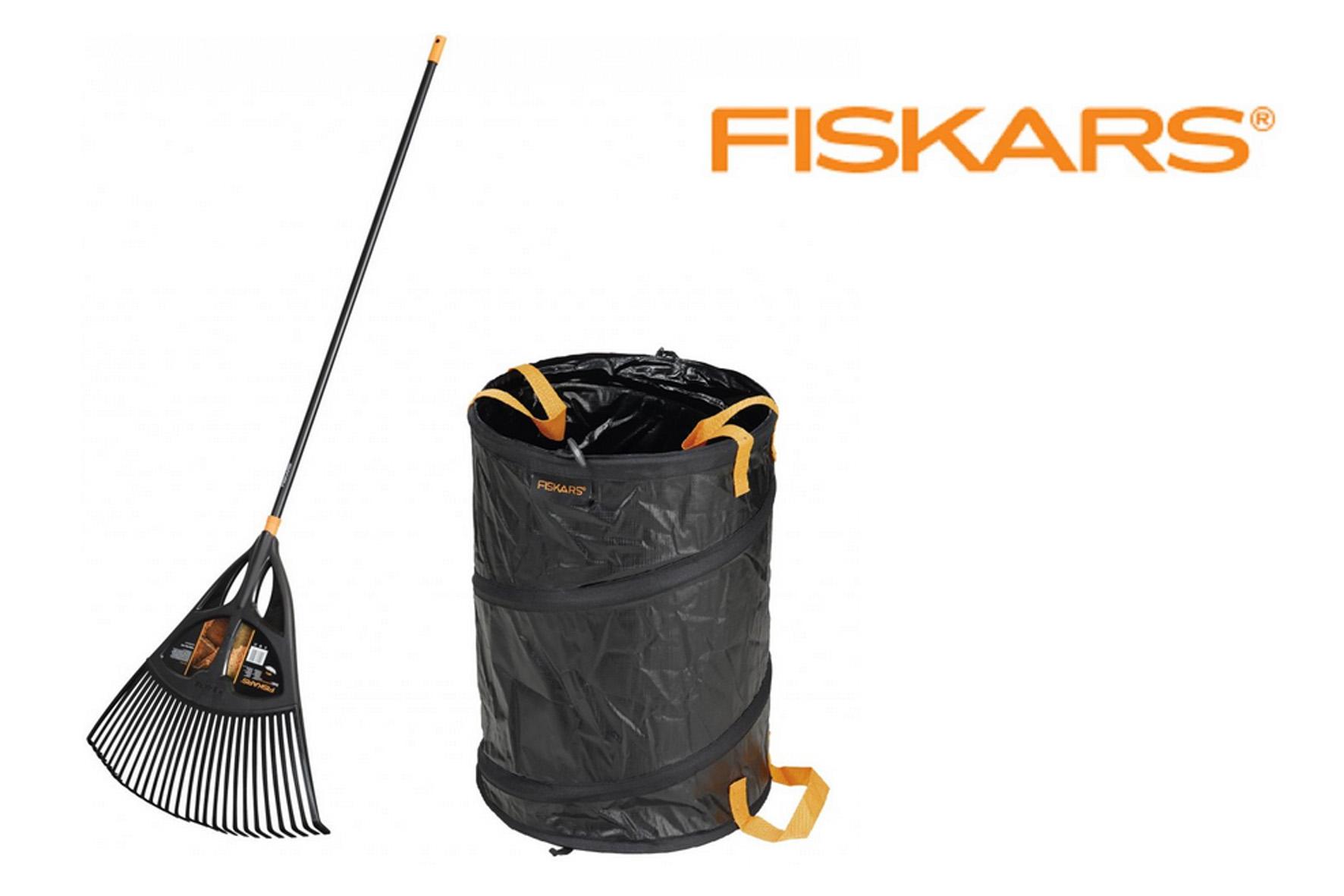 Balai xl manche metal fiskars sac de jardin achat en for Outillage de jardin fiskars