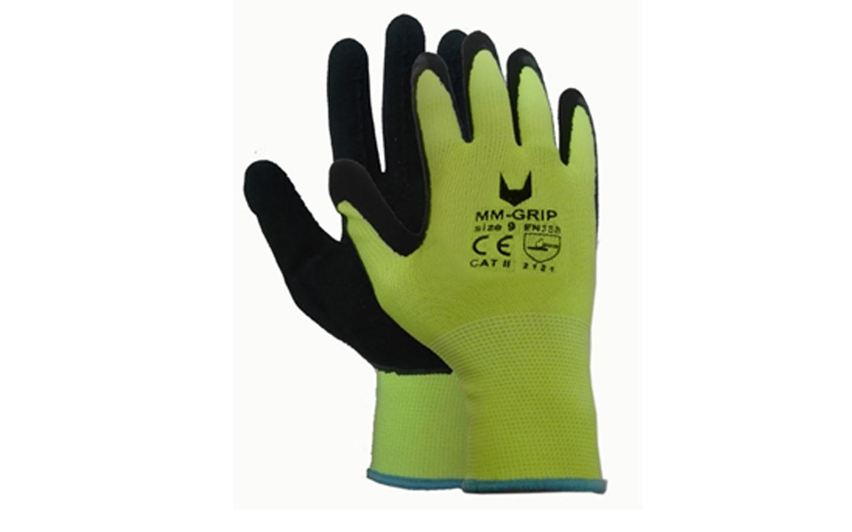 Gants latex grip jaune noir achat en ligne ou dans notre - Gant latex noir ...