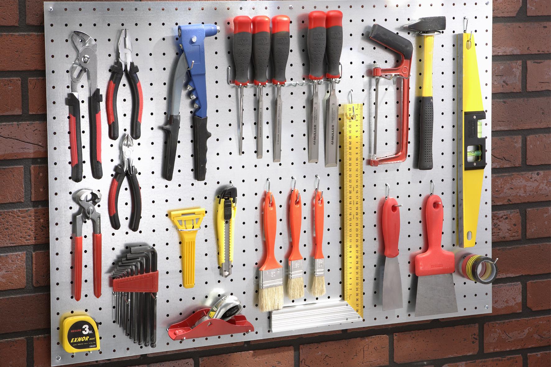 Panneau mural porte outils achat en ligne ou dans notre magasin - Fabriquer un porte outils de jardin ...