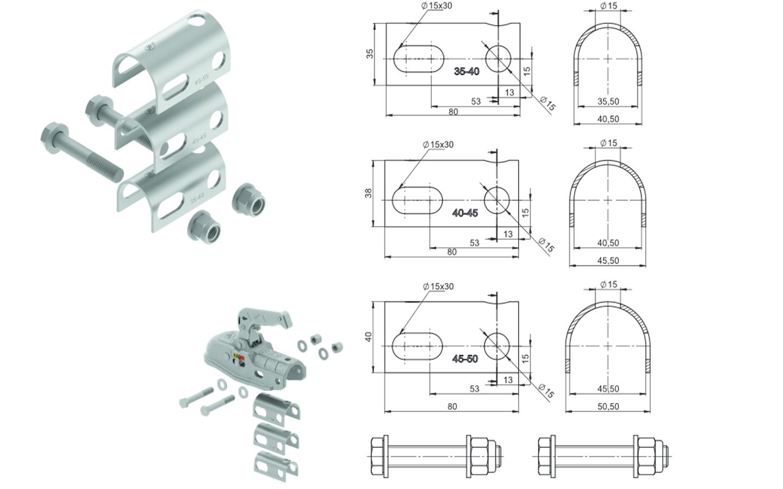 adaptateur pour attache remorque rond 35 45 mm achat en ligne ou dans notre magasin. Black Bedroom Furniture Sets. Home Design Ideas