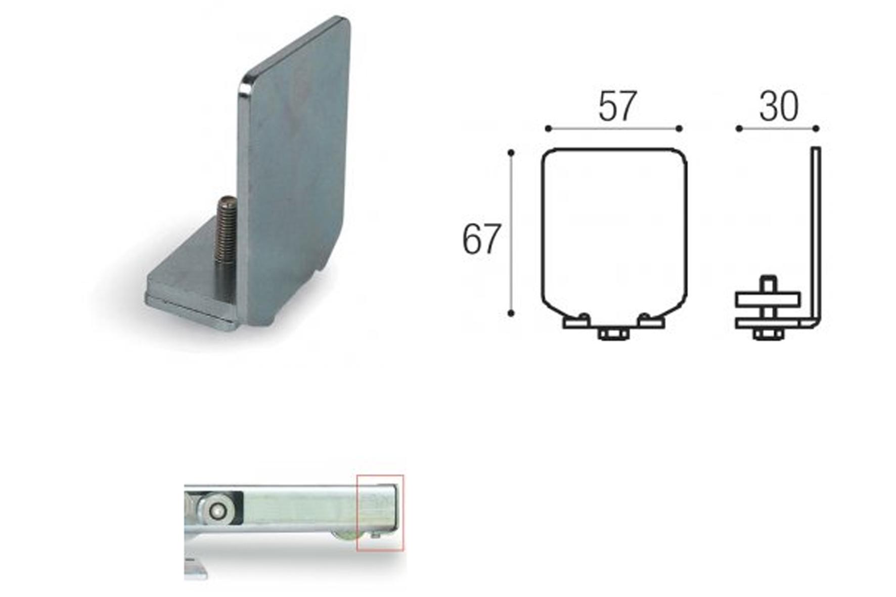 bouchon pour rail kit autoportant 2140 2160 achat en ligne ou dans notre magasin. Black Bedroom Furniture Sets. Home Design Ideas