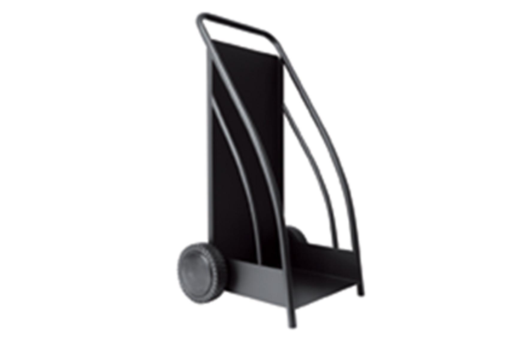 Chariot b che m tal noir achat en ligne ou dans notre magasin - Panier a buche metal ...