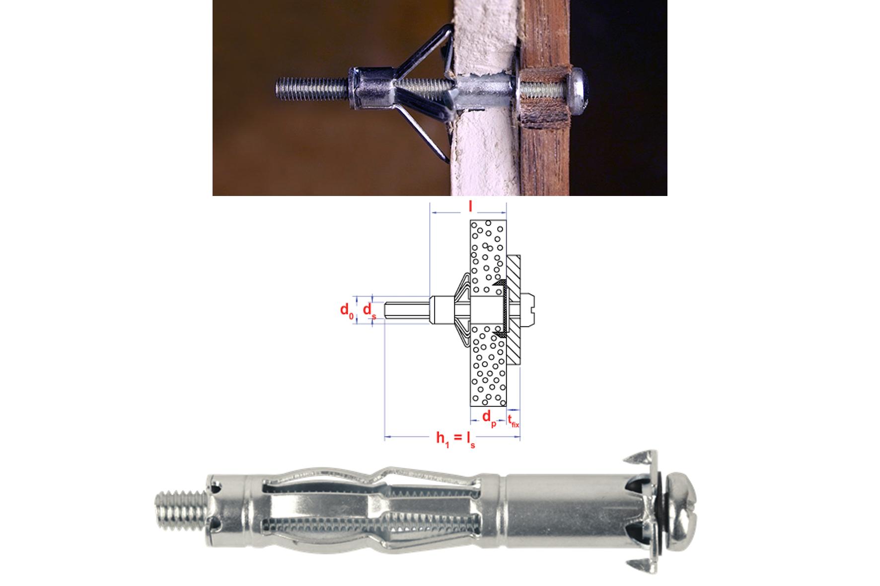 qualité et quantité assurées valeur formidable achat spécial Cheville métal pour corps creux