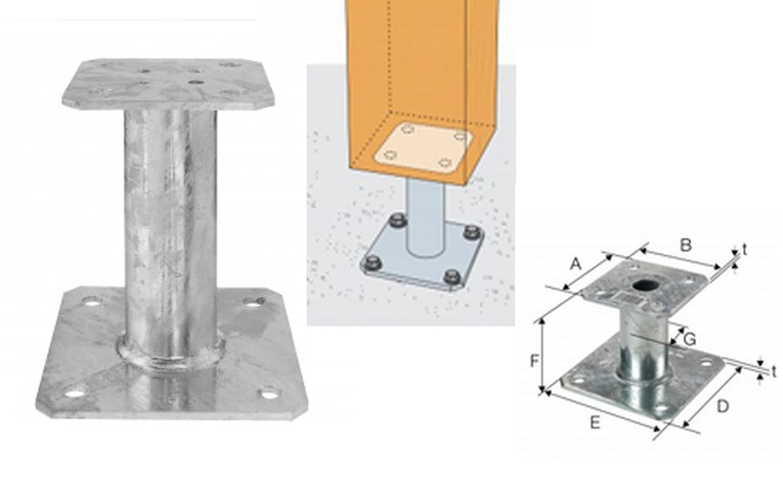 pied de poteau fixe achat en ligne ou dans notre magasin. Black Bedroom Furniture Sets. Home Design Ideas