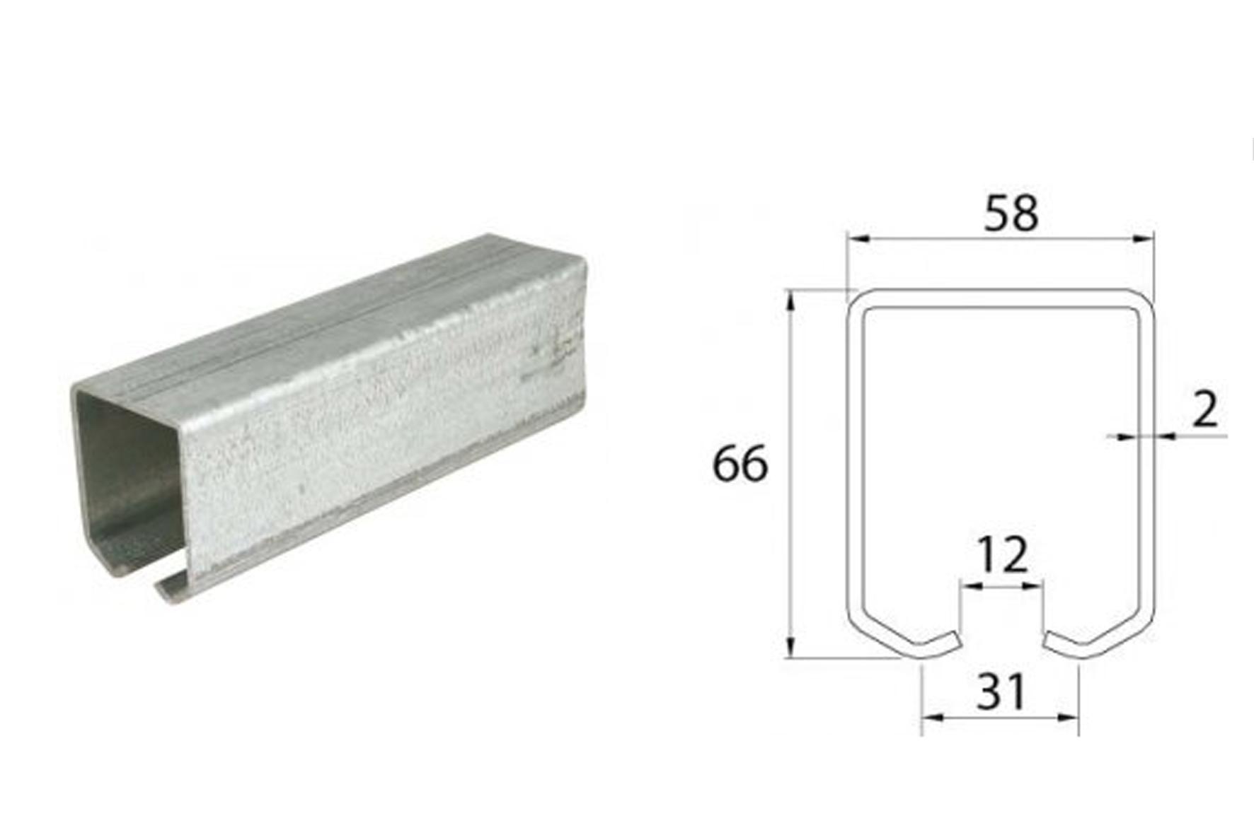 rail pour portail autoportant kit 2140 2160 achat en. Black Bedroom Furniture Sets. Home Design Ideas