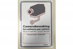adhésif rectangle surveillance par camera loi 2007