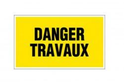 panneau pvc rectangle danger travaux