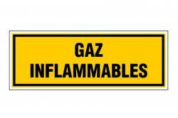 panneau pvc rectangle gaz inflammables