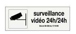 panneau pvc rectangle surveillance video