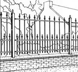 Fer Forgé du rayon clôture - Achetez en ligne!