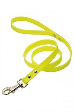 laisse simple plate 1m20  - nylon jaune fluo