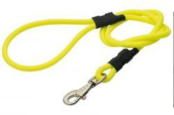 laisse simple ronde 1m20  - jaune fluo