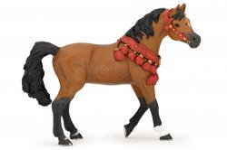 cheval arabe en tenue de parade - papo 51547