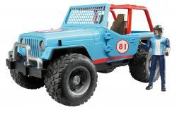 jeep cross country racer bleue avec conducteur - 02541 - 1:16