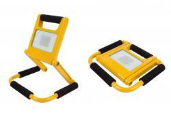 lampe de chantier portatif led 10w - ultra plat rechargeable - perel