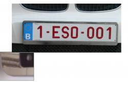 porte plaque voiture chrome