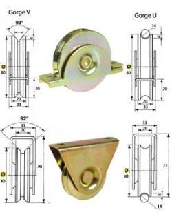 rails pour portails roue. Black Bedroom Furniture Sets. Home Design Ideas