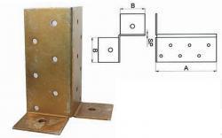 support pour poteau de la rubrique connecteur achat en ligne. Black Bedroom Furniture Sets. Home Design Ideas
